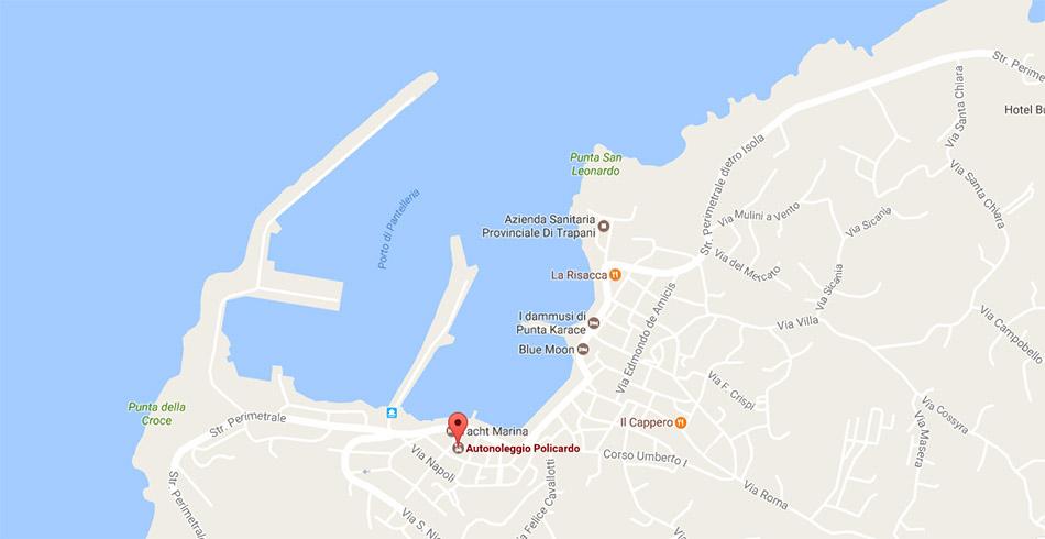 mappa noleggio auto pantelleria policardo